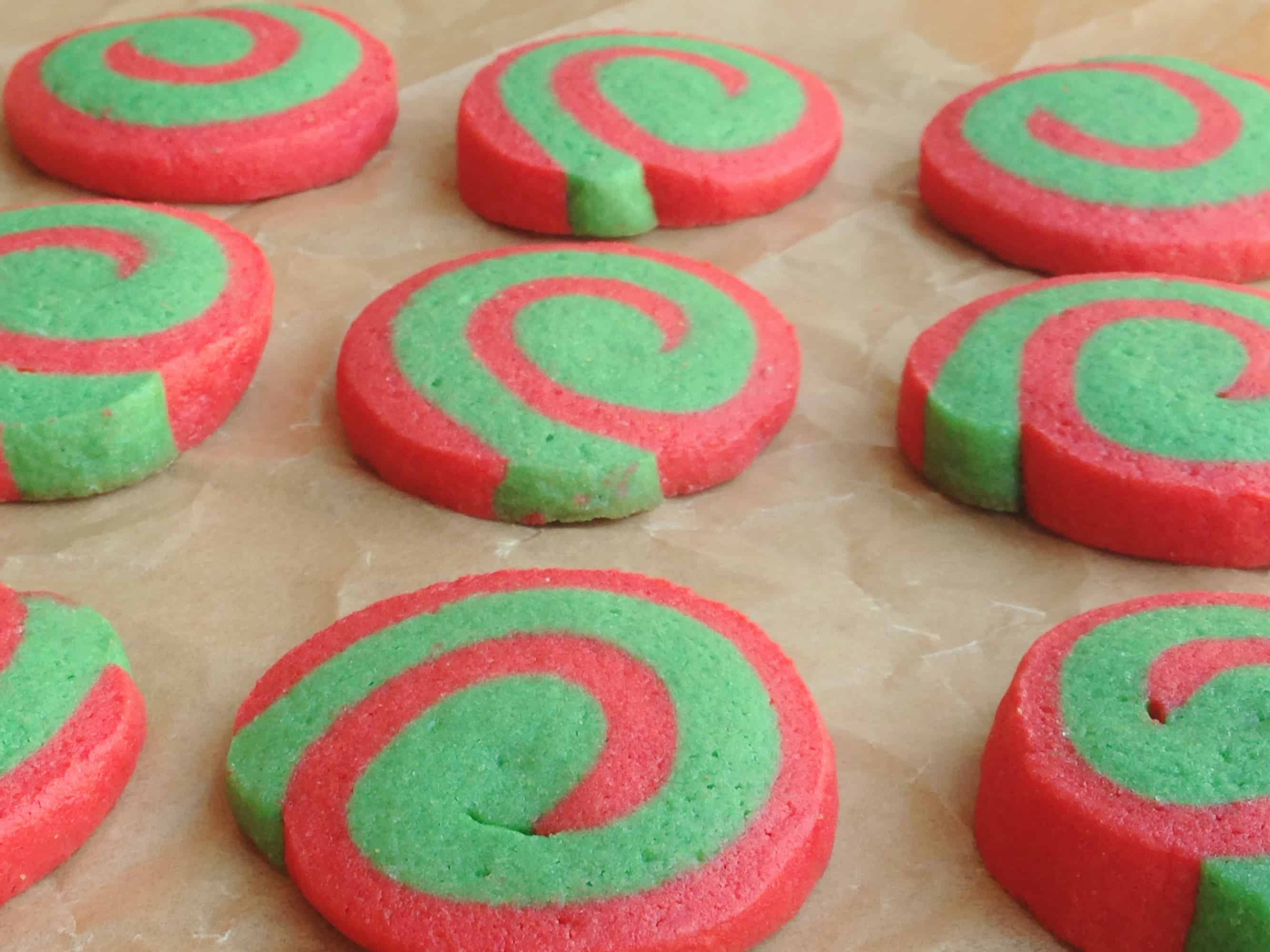 The First Day Of Christmas Pinwheel Cookies My Sweet Precision