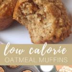 oatmeal applesauce muffins pinterest image