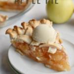 apple pie and ice cream on plate