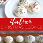 Italian Christmas cookies pinterest image