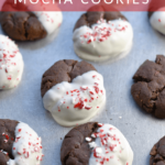 chocolate candy cane cookies pinterest image