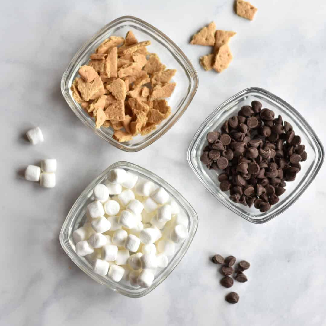 s'mores toppings from above