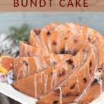 cranberry orange bundt cake pinterest image