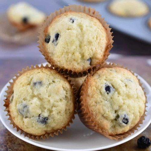 jiffy blueberry muffin copycat recipe closeup