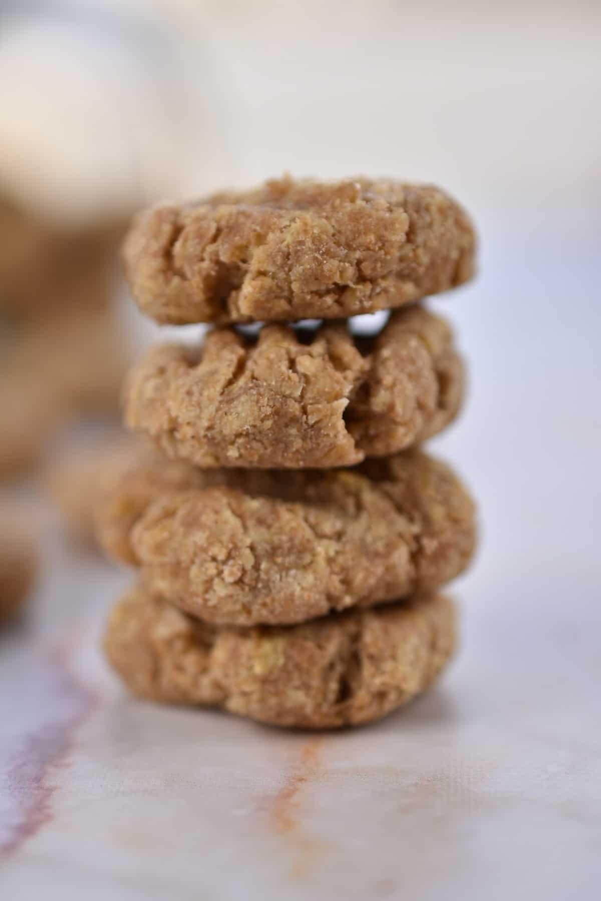 closeup image of homemade cat treats