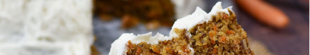 pecan carrot cake slice on a plate